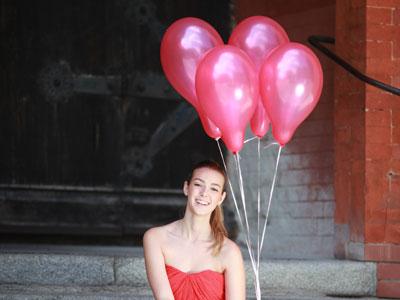 Heliumballons auf der Hochzeit