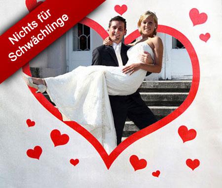 Herz Hochzeitsspiel nach der Kirche