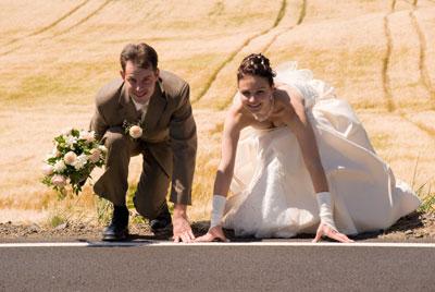 Hochzeitsspiele mit dem Brautpaar