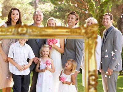 Hochzeitsspiele mit Gästen