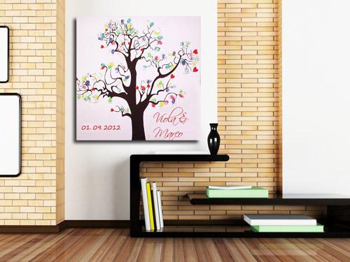 fingerabdruck hochzeitsspiel fingerabdr cke auf leinwand. Black Bedroom Furniture Sets. Home Design Ideas